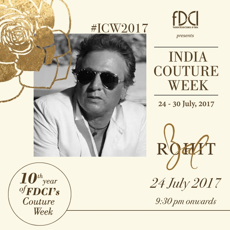 Rohit Bal India couture week 2017