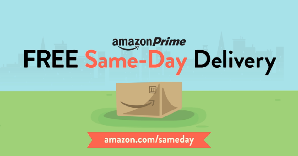 Amazon Prime - same day delivery