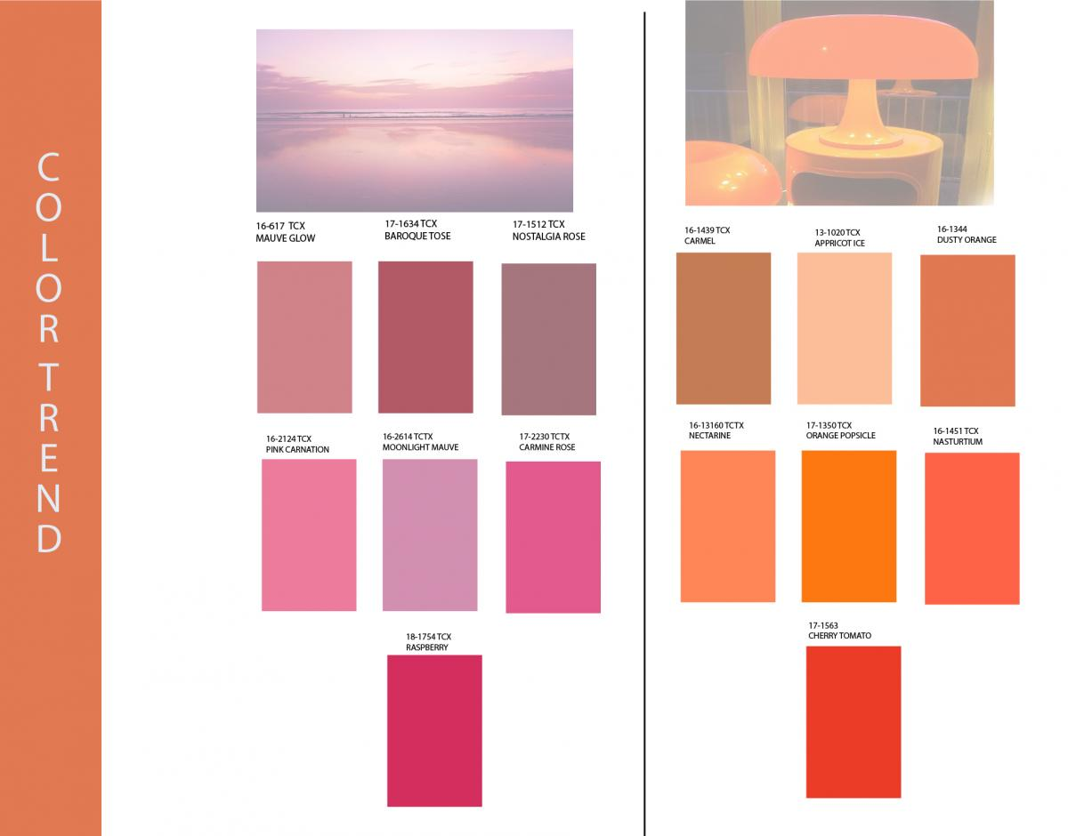 The most fashionable color of SS 2018 Photo Pantone trends