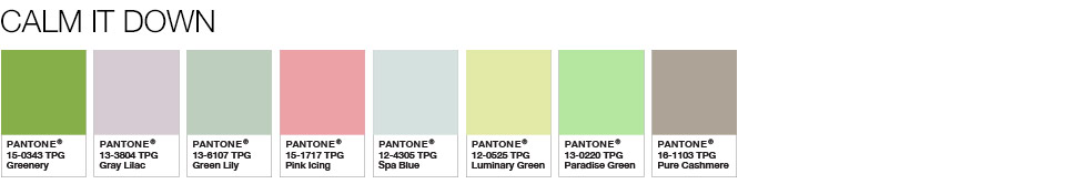 zesty 'greenery' as Pantone color of the year -2017
