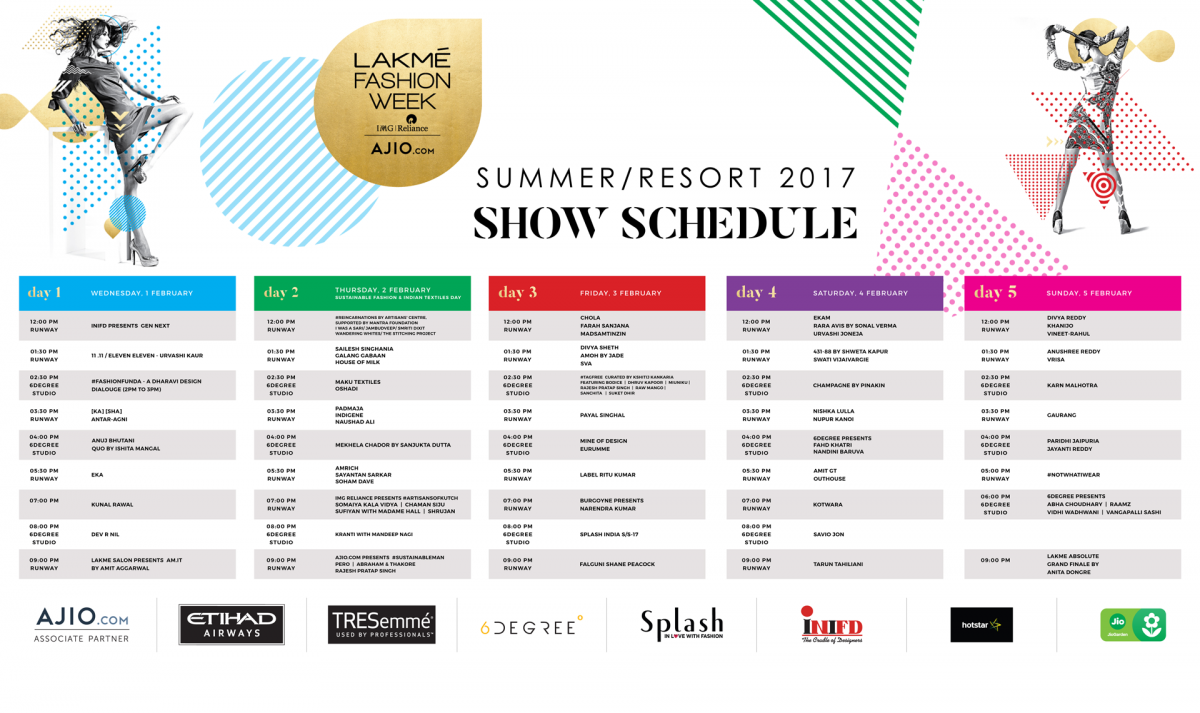 Lakme Fashion Week 2017 Dates And Calendar F Trend