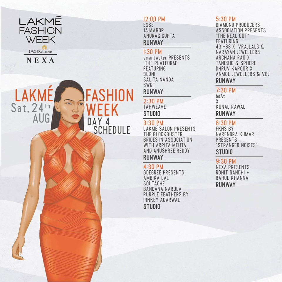 Lakme fashion week 2019 day 4 schedule