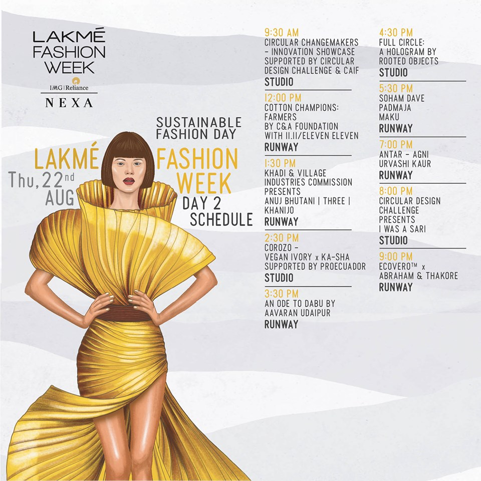 Lakme fashion week day 2 schedule