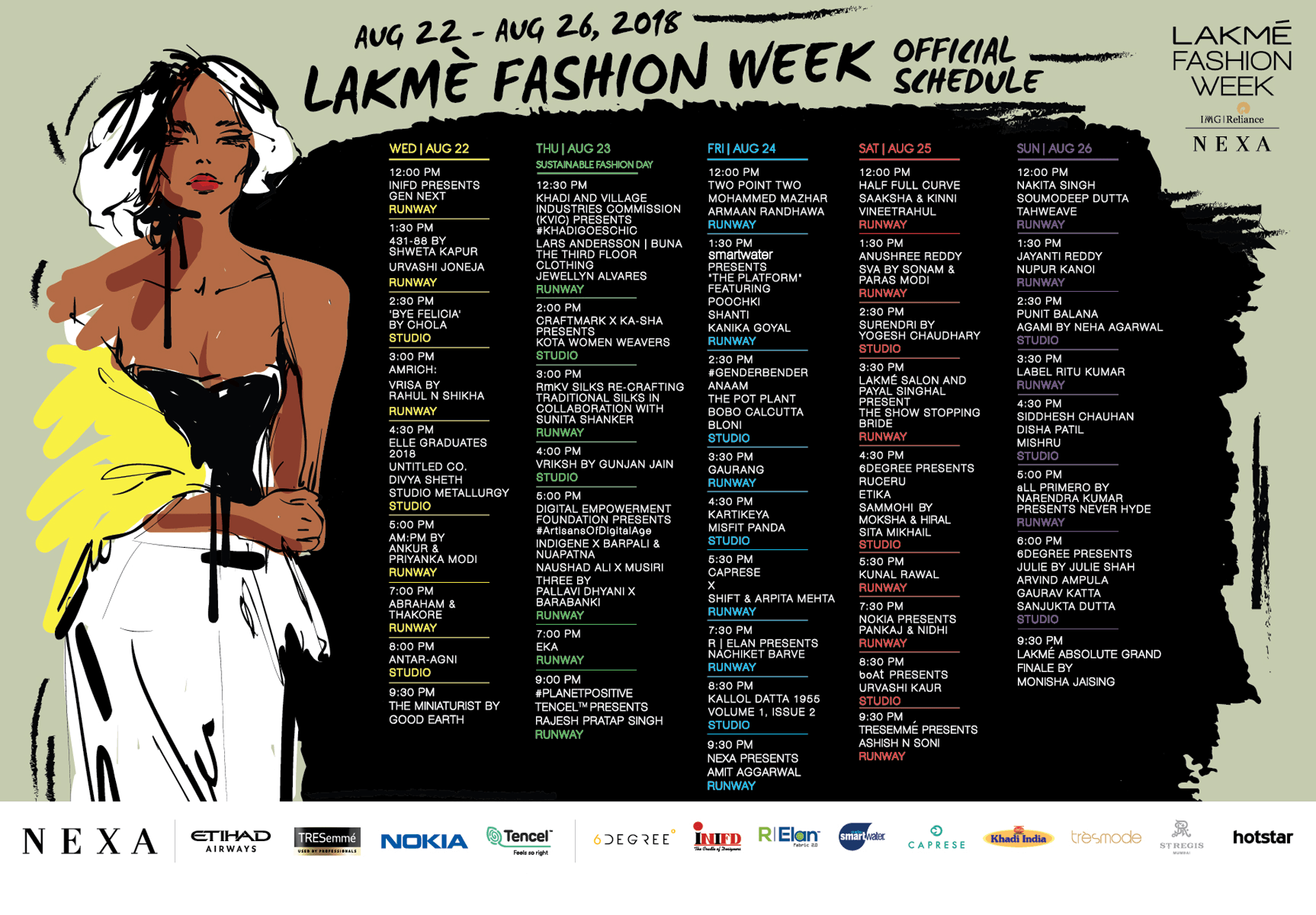 Lakme fashion week winter festive 2018 dates