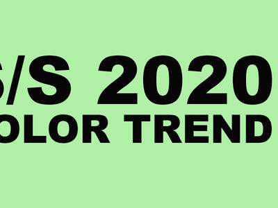 Spring summer 2020 color trends