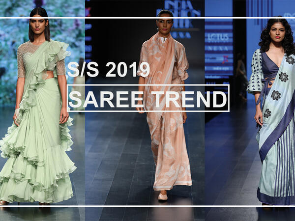 Lotus Makeup India fashion week 2018 Saree trend