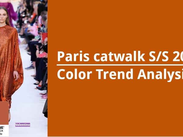 Color Trend Analysis: Paris catwalk S/S 2020