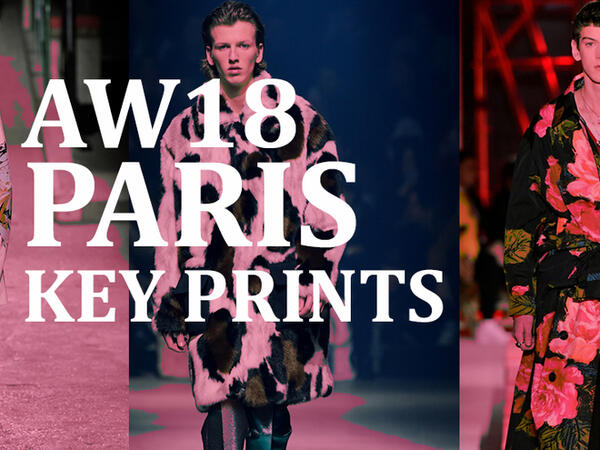 Paris Men's fashion week AW18: Key Prints