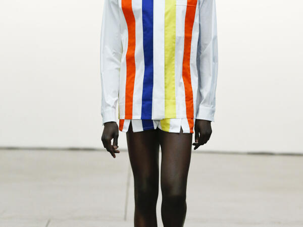 Men's Vertical color stripe: Catwalk S/S 2020